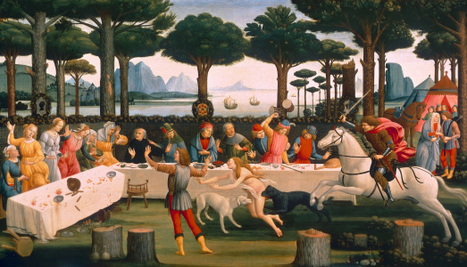 Picture no: 30002638 Botticelli / Story of Nastagio III /1483 Created by: Botticelli, Sandro
