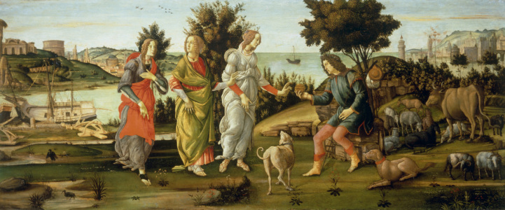 Picture no: 30002650 S.Botticelli / Judgement of Paris / Ptg. Created by: Botticelli, Sandro