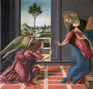 Picture no: 30002670 Botticelli, Annunciation Created by: Botticelli, Sandro