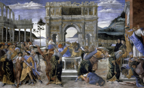 Picture no: 30002682 S.Botticelli, Bestrafung der Rotte Korah Created by: Botticelli, Sandro