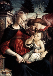 Picture no: 30002694 S.Botticelli, Maria mit Kind u.Engeln Created by: Botticelli, Sandro
