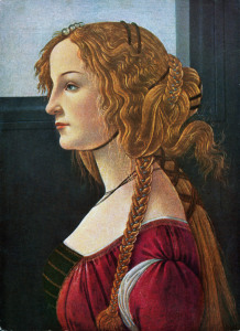 Picture no: 30002706 Botticelli/Female profile portrait/c1480 Created by: Botticelli, Sandro