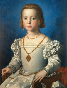 Picture no: 30002732 Bia de' Medici / Paint.by Bronzino /1542 Created by: Bronzino, Agnolo