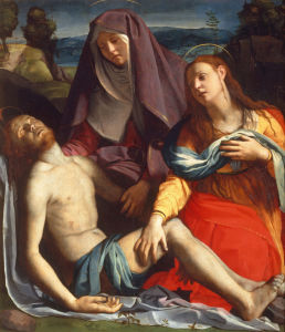 Picture no: 30002778 Dead Christ & Mary / Bronzino / c.1530 Created by: Bronzino, Agnolo