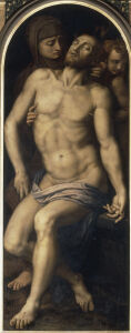 Picture no: 30002784 A.Bronzino / Pietà / Paint./ c.1565/70 Created by: Bronzino, Agnolo