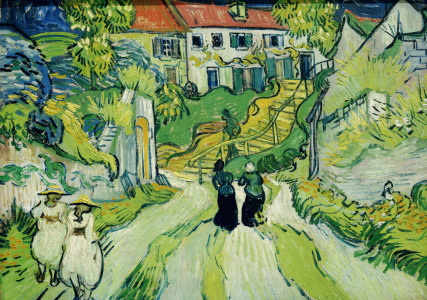 Picture no: 30002804 Van Gogh / Stairway at Auvers /Ptg./1890 Created by: van Gogh, Vincent