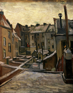 Picture no: 30002808 v.Gogh /Backyards in Antwerp/Paint./1885 Created by: van Gogh, Vincent