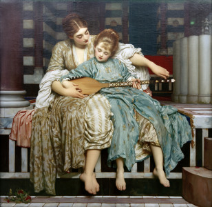 Picture no: 30002848 Frederick Lord Leighton, Musik lesson. Created by: Leighton, Frederic
