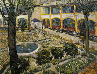 Picture no: 30002862 van Gogh / Hospital Garden in Arles Created by: van Gogh, Vincent