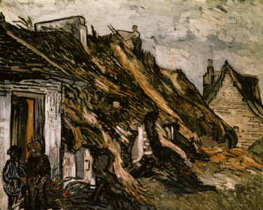 Picture no: 30002876 V.van Gogh, Cottages in Chaponval / Ptg. Created by: van Gogh, Vincent
