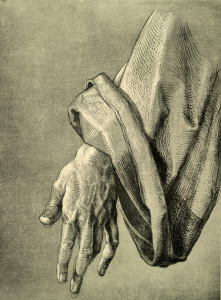 Picture no: 30002902 A.Dürer, Hand of Apostle / Draw./ c.1508 Created by: Dürer, Albrecht