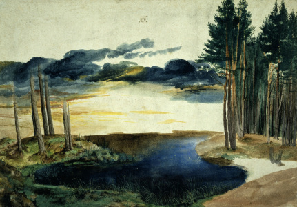 Picture no: 30002954 A.Dürer, Lake in the Woods / watercolour Created by: Dürer, Albrecht