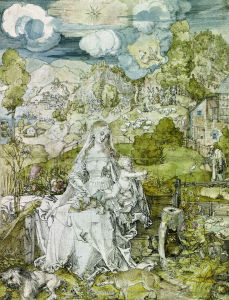 Picture no: 30002964 Mary with Animals / Duerer / c.1520 Created by: Dürer, Albrecht
