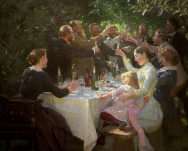 Picture no: 30003002 Artist's Breakfast / Painting/P.S.Kröyer Created by: Kroyer, Peter Severin