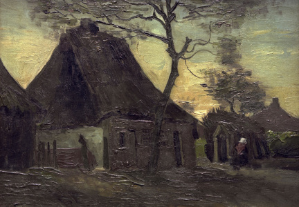 Picture no: 30003082 V.van Gogh, Cottage in Nuenen / Paint. Created by: van Gogh, Vincent