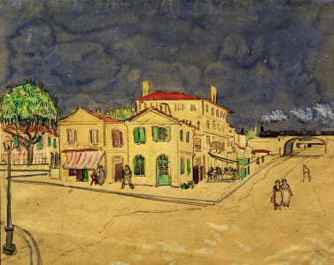 Picture no: 30003098 V.van Gogh, The Yellow House / Watercol. Created by: van Gogh, Vincent