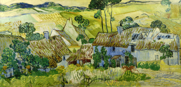 Picture no: 30003110 V.van Gogh, Farms near Auvers / Paint. Created by: van Gogh, Vincent