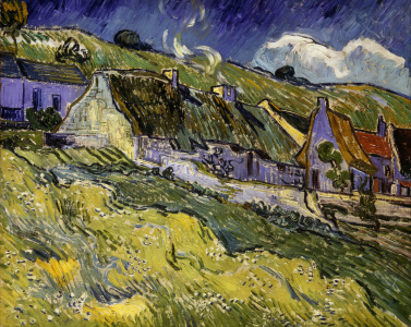 Picture no: 30003112 V.v.Gogh, Thatched Cottages /Paint./1890 Created by: van Gogh, Vincent