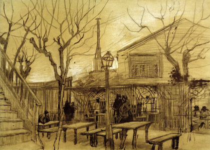 Picture no: 30003148 Van Gogh, Guinguette / Draw./ 1887 Created by: van Gogh, Vincent