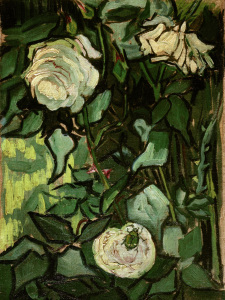 Picture no: 30003190 V.van Gogh, Roses and Beetle/Paint./1890 Created by: van Gogh, Vincent
