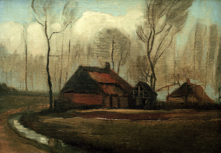Picture no: 30003192 v.Gogh / Farmhouse after the Rain / 1883 Created by: van Gogh, Vincent