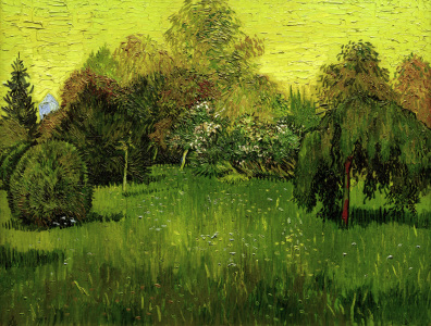 Picture no: 30003196 V.van Gogh, The Poet's Garden /Ptg./1888 Created by: van Gogh, Vincent