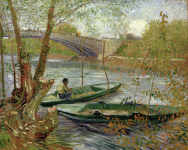 Picture no: 30003210 V.v.Gogh, Fishing in Spring /Paint./1887 Created by: van Gogh, Vincent