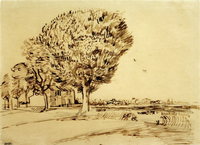 Picture no: 30003238 V.v.Gogh, Landscape w.House & Trees/1888 Created by: van Gogh, Vincent