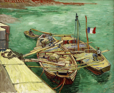 Picture no: 30003242 V.v.Gogh / Barges on the Rhone River Created by: van Gogh, Vincent