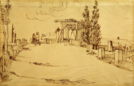 Picture no: 30003248 V.v.Gogh, Langlois Bridge /Drawing/ 1888 Created by: van Gogh, Vincent