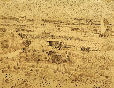 Picture no: 30003254 V.v.Gogh, Harvest, La Caru /Draw./ 1888 Created by: van Gogh, Vincent