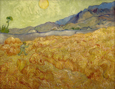Picture no: 30003274 Van Gogh / Wheatfield with Reaper / 1889 Created by: van Gogh, Vincent