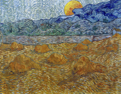Picture no: 30003284 V.van Gogh, Ev. landsc.with rising moon Created by: van Gogh, Vincent