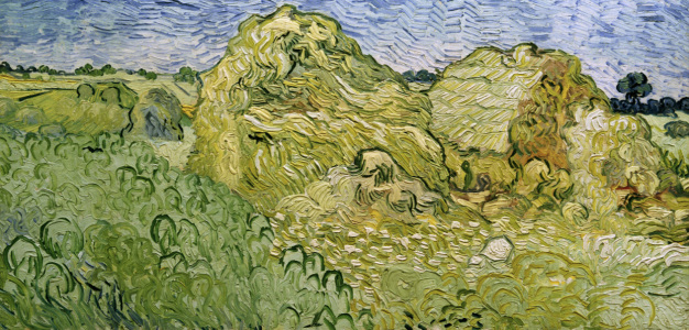 Picture no: 30003296 V.v.Gogh, Field w.Wheat Stacks/Ptg./1890 Created by: van Gogh, Vincent