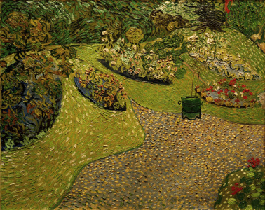 Picture no: 30003300 V.v.Gogh, Garden in Auvers / painting Created by: van Gogh, Vincent