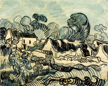 Picture no: 30003310 V.v.Gogh, Landscape w.Cottages / 1890 Created by: van Gogh, Vincent