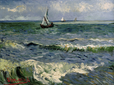 Picture no: 30003324 V.van Gogh, Sea at St.Maries /Ptg./1888 Created by: van Gogh, Vincent