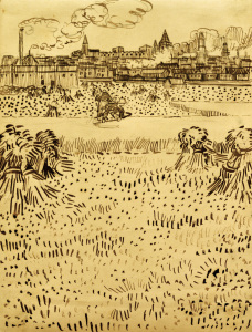Picture no: 30003342 V.v.Gogh, Harvest / Drawing / 1888 Created by: van Gogh, Vincent