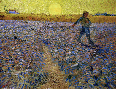Picture no: 30003362 Van Gogh / Sower at sunset Created by: van Gogh, Vincent