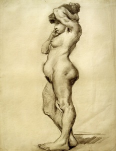 Picture no: 30003368 V.van Gogh, Standing Female Nude /Draw. Created by: van Gogh, Vincent