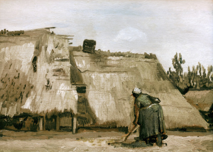 Picture no: 30003370 v.Gogh/Hut w.working peasant woman/1885 Created by: van Gogh, Vincent