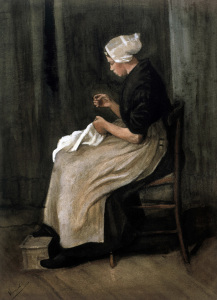 Picture no: 30003372 v.Gogh/Seamstress from Scheveningen/1881 Created by: van Gogh, Vincent