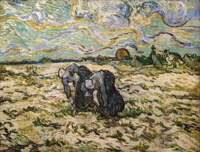 Picture no: 30003386 V.van Gogh, Peasant Women Digging/Paint. Created by: van Gogh, Vincent