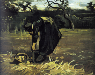 Picture no: 30003388 Gogh/Peasant woman digging potatoes/1885 Created by: van Gogh, Vincent
