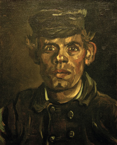 Picture no: 30003402 Van Gogh, Peasant in Peaked Cap / Paint. Created by: van Gogh, Vincent