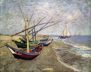 Picture no: 30003430 V.van Gogh, Boats at St.Maries/Ptg./1888 Created by: van Gogh, Vincent