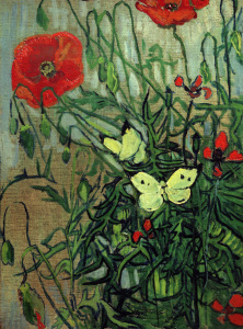 Picture no: 30003448 van Gogh, Butterflies & Poppies /Paint. Created by: van Gogh, Vincent
