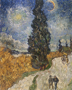 Picture no: 30003450 Van Gogh / Country Road with Cypresses Created by: van Gogh, Vincent