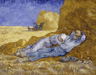 Picture no: 30003490 Van Gogh / Siesta (after Millet) / 1890 Created by: van Gogh, Vincent