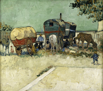 Picture no: 30003506 Van Gogh / Gypsy camp, horse-drawn wag. Created by: van Gogh, Vincent